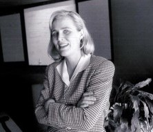 Beth Stegner Peabody poses for a Business First Story in 1996